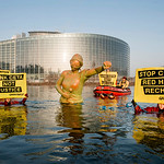 Protest ahead of Vote on EU-Canada Trade Deal at EU Parliament in Strasbourg